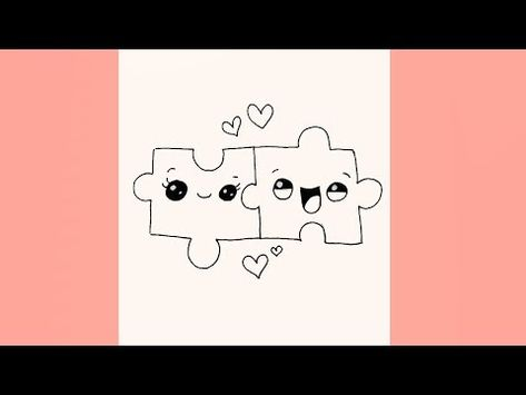 How To Draw Cute Puzzle Pieces YouTube