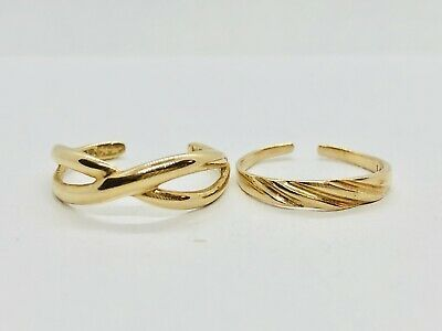 Details About 2 Vintage Solid 14k 10k Yellow Gold Toe Rings 1 6g In 2020 Gold Toe Toe Rings Gold Toe Rings