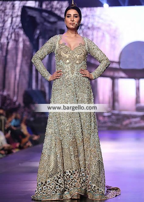 Exquisite Anarkali Dress for Valima and Reception This exquisite anarkali dress will keep you pictur