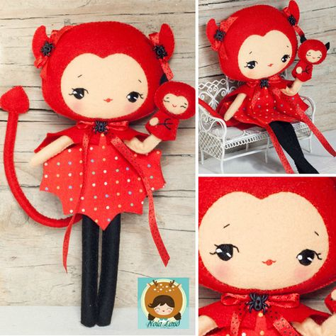 Devil Girl Felt Doll Sewing Pattern!
