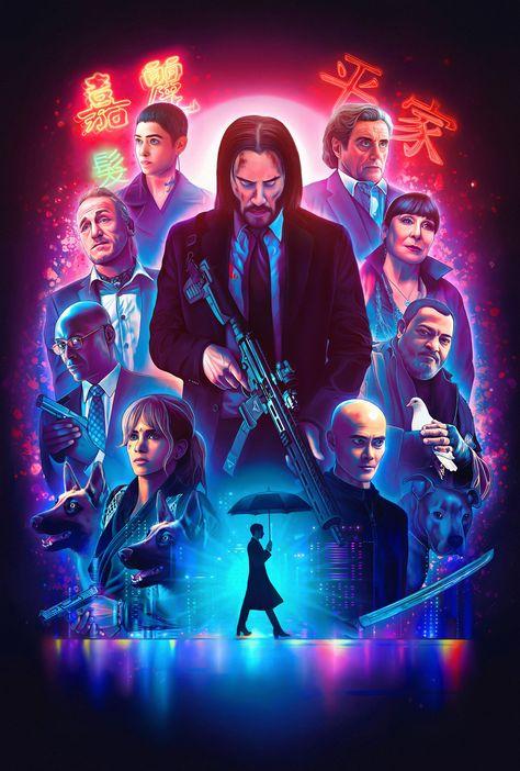 John Wick: Chapter 3 - Parabellum 2019 Keanu Reeves Movie Poster Wall Art Home Decor Print