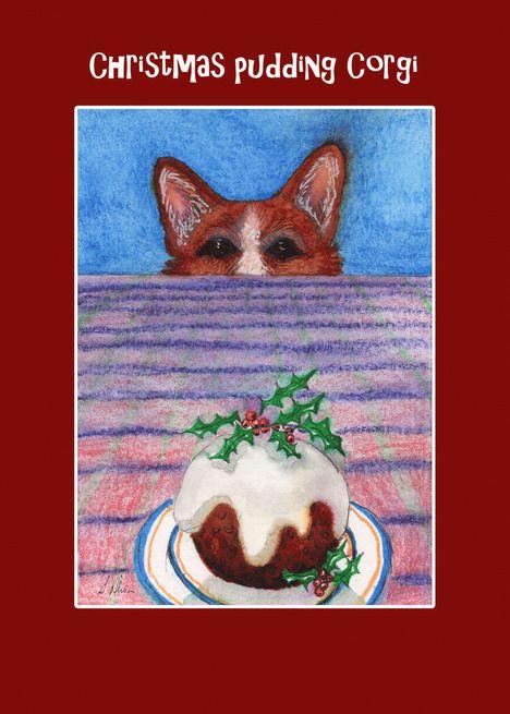 Corgi Dog And A Christmas Pudding Blank Card Ad Sponsored Christmas Dog Corgi Card Corgi Dog Christmas Pudding Blank Cards