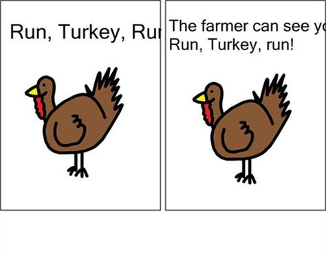Boardmaker Online  Run turkey run activities to support the book