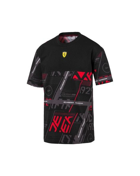 Sf Street Graphic Print Crew Neck T Shirt Shirts Puma Online Ferrari
