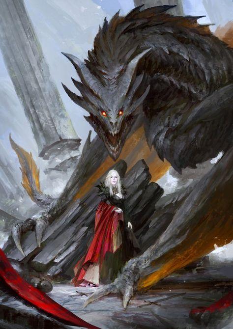 Daenerys Targaryen the Mother of Dragons Art Game Of Thrones, Dessin Game Of Thrones, Game Of Thrones Dragons, Throne Of Glass Books, Throne Of Glass Series, Dark Fantasy Art, Dark Art, Fantasy Queen, Fantasy Love