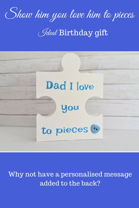 Dad Gift Birthday For Ideas Him I Love You To Pieces Quirky Fun