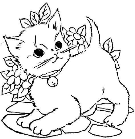 Minik Kedi Boyama Resmi Boyama Kitaplari Boyama Sayfalari Cizim