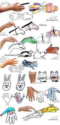 14 Different Hand Print Animals - Hand kunst, Kind knutselen en ...