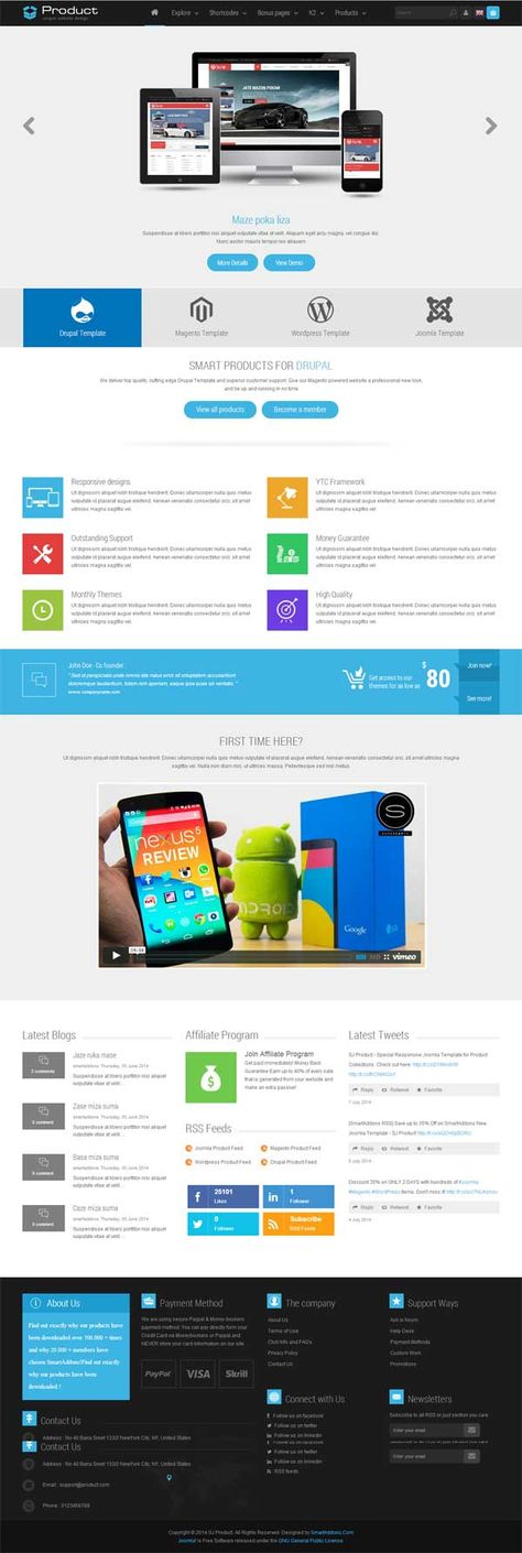 Sj Product Responsive Joomla Template Is One Of The Premium Joomla
