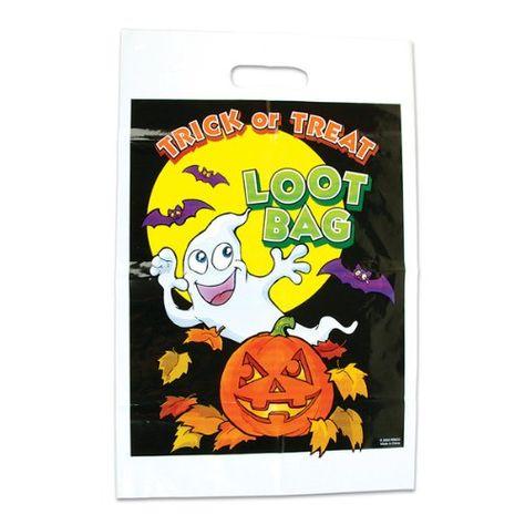 BG/_ JT/_ Halloween Party Props Plastic Pumpkin Bucket Light Trick or Treat Candy