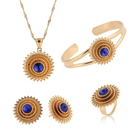 920642f2eb3 Click to Buy    Bangrui Ethiopian Pendant Necklace Bangle Earrings Ring set  Jewelry Gold African Eritrea Bridal Wedding Women Girl  Affiliate.