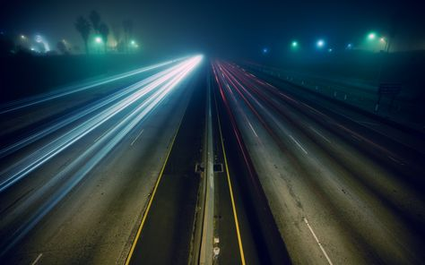 Photography Time Lapse Photography Traffic Blur Wallpaper
