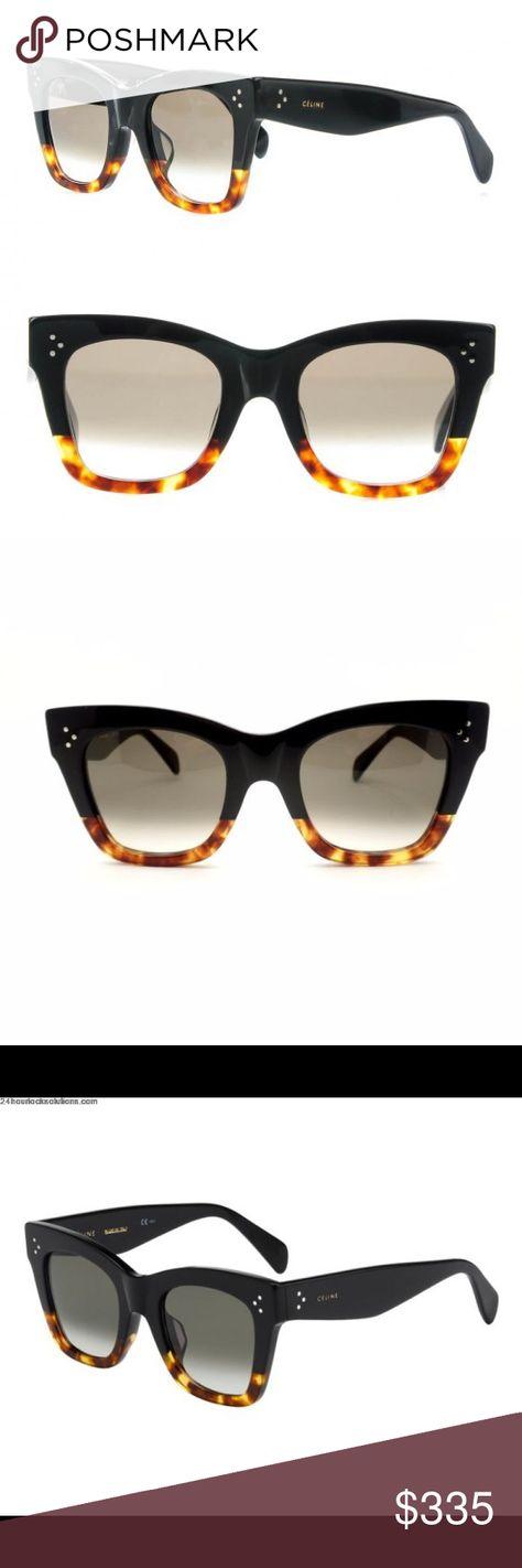 5a72af4e7a6e CELINE Catherine Chunky Cat Eye Sunglasses CELINE Catherine Sunglasses CL  41098 F S Black