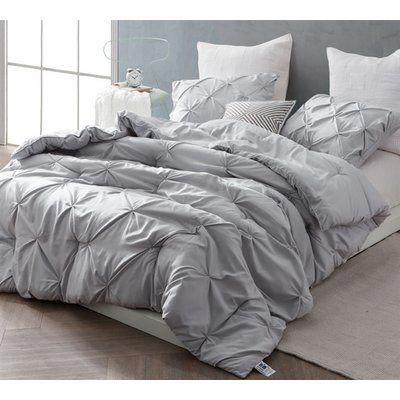 Ophelia Co Iyonna Pin Tuck 3 Piece Comforter Set Size King Color Light Gray Comforte Grey Comforter Sets Grey Comforter Bedroom King Size Comforter Sets