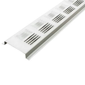 Air Vent 2 6 In X 96 In White Louvered Aluminum Retrofit Continuous Soffit Vent Sold In 50 Pieces Carton Only Sv201wh In 2020 Home Depot Shed House Plans Attic Ventilation