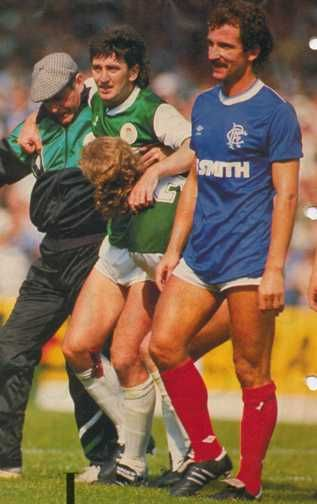 Hibernian 2 Rangers 1 in Aug 1986 at Easter Road. Graeme Souness gets sent off in his game in charge and Gers lost