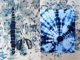 Federica Vera Tie Dye Shibori Caixinha De Surpresas Shibori Tie Dye Bastoes De Madeira