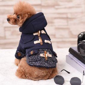 Pet Supplies Dog Clothes Tidy Miniature Canine Horn Button