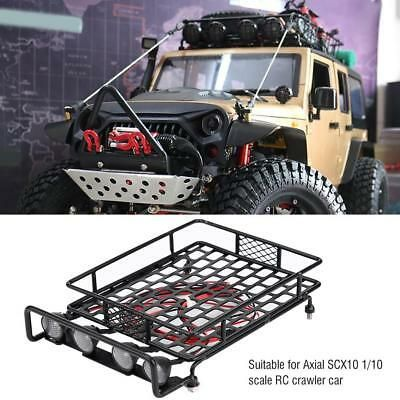 11 58 Large Size Roof Rack Luggage Carrier Led Light Round For Axial Scx10 1 10 Rc Car Roof Rack Luggage Carrier Rc Cars