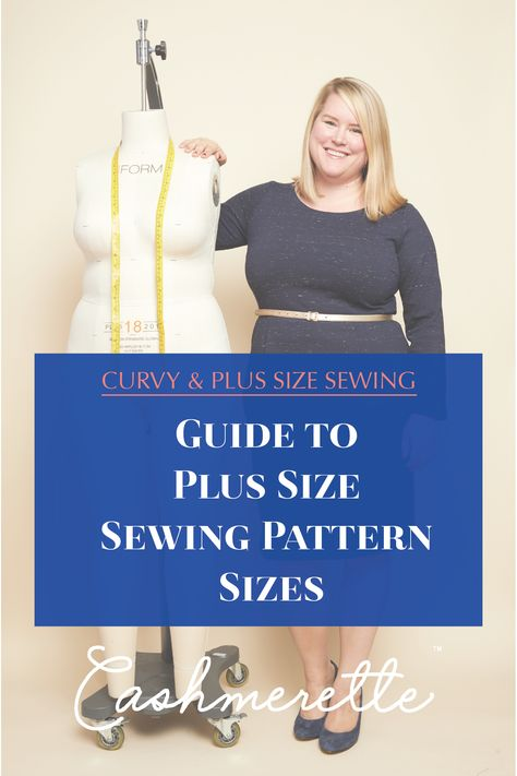 2019 Guide to Plus Size Sewing Pattern Sizes - Nadel und Faden - Easy Sewing Plus Size Sewing Patterns, Clothing Patterns, Pattern Sewing, Free Pattern, Pdf Patterns, Beginner Sewing Patterns, Sewing Hacks, Sewing Tutorials, Sewing Tips