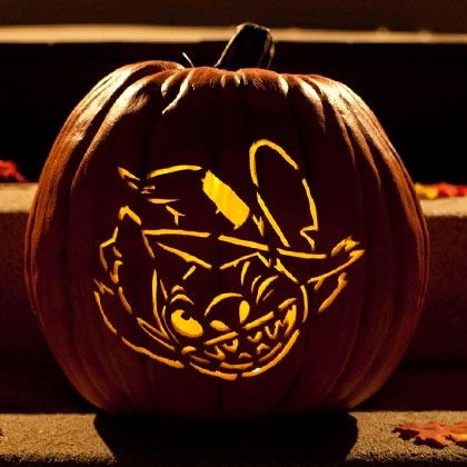 Stitch Witch Pumpkin Carving Template