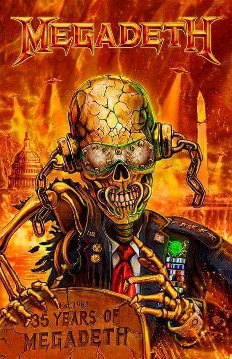Pin By Didem Tire On Megadeth Heavy Metal Music Heavy Metal Art Metallica Art