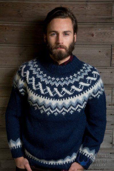 Image Result For Mens Nordic Scandinavian Icelandic Knit Sweater Icelandic Wool Sweaters Sweaters Knitwear Men