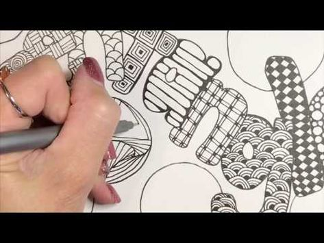 16 Easy Zentangle Patterns For Beginners In My Quigtangle Youtube Zentangle Patterns Easy Zentangle Patterns Zentangle