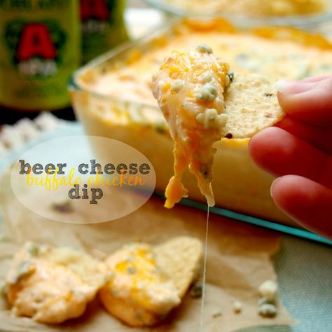 beer cheese buffalo chicken dip. AMAZING. chicken wings and beer were meant to go together!