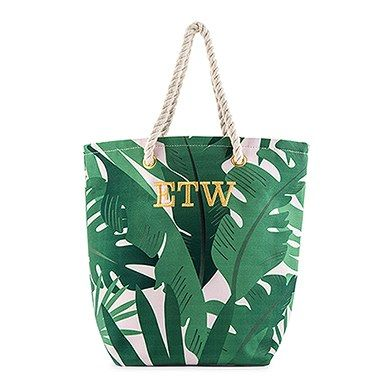 Baggage Covers Green Pink Tropical Palm Leaves Washable Protective Case