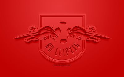 Download Wallpapers Rb Leipzig Creative 3d Logo Red Background 3d Emblem German Football Club Bundesliga Leipzig Germany 3d Art Football Stylish 3d Lo Red Background Playroom Wall Decals Rb Leipzig
