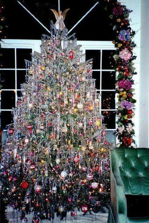 67 Ideas Christmas Tree Decorations Tinsel Decorating Ideas For 2019 Vintage Christmas Tree Decorations Aluminum Christmas Tree Vintage Christmas Tree
