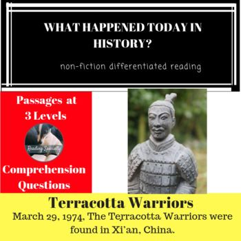 Terracotta Warriors Differentiated Reading Comprehension Passage