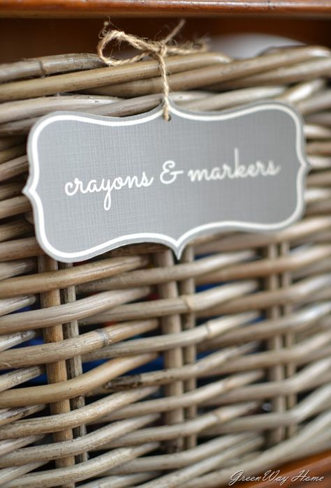 organizing with labels in picmonkey. All of my baskets have labels on them........so easy to keep track, and they look great in the cabinet.