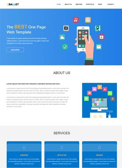 One Page Free Website Template Free Website Templates Simple Website Templates Website Template