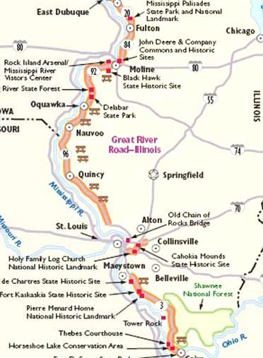 Horseshoe Chain Of Lakes Map : horseshoe, chain, lakes, HowStuffWorks, Illinois, Scenic, Drives, Great, River, Travel,, River,, Drive