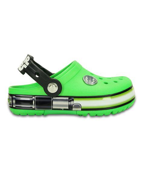fd41f2c6ae7203 Look at this  zulilyfind! Crocs Neon Green CrocsLights Star Wars Yoda Clog  - Toddler   Kids by Crocs  zulilyfinds