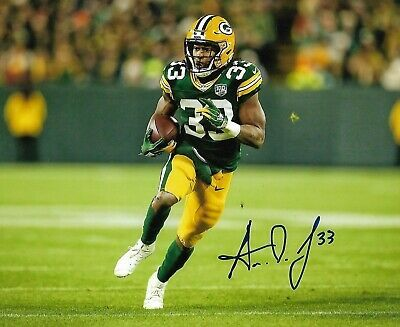 Ad Ebay Link Aaron Jones Signed Autographed Green Bay Packers 8x10 Photo Nfl W Coa Green Bay Packers Football Green Bay Packers Merchandise Green Bay Packers