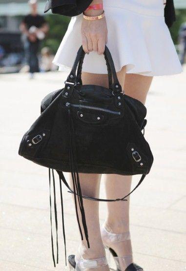 Investment handbags Balenciaga city bag street style