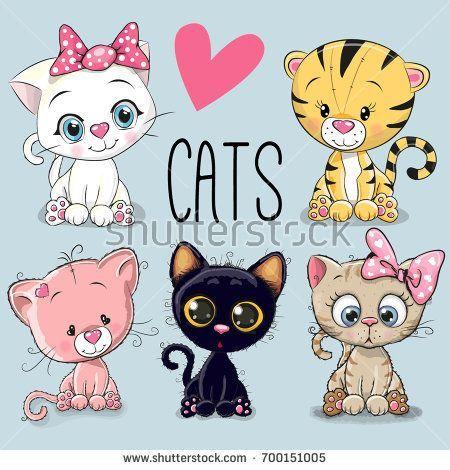 Vektorgrafik Shutterstock Background Weitere Cartoon Bilder Finden Kaufen Diese Blue Cats Cute Sie Bei Undset Cute Art Cute Drawings Cat Vector
