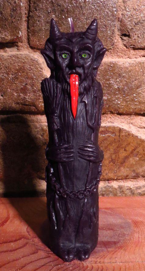 Krampus - Christmas Devil -Magic Krampus Effigy Candle Gothic