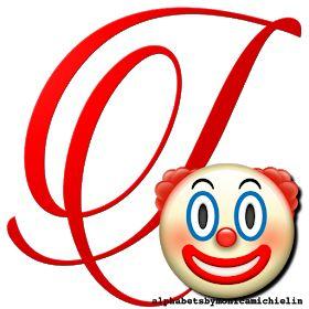 Alphabets By Monica Michielin Clown Emoticon Emoji Alphabet Png Emoji Alphabet Emoticon