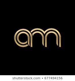 Initial Lowercase Letter Am Linked Outline Rounded Logo Elegant