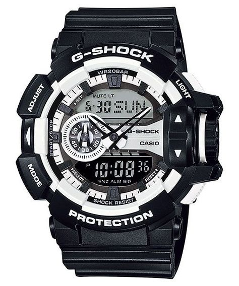 Casio G-Shock Ga-400-1A Magnetic Resistant Funky Black White Resin Men Watch a080b05ff8a41