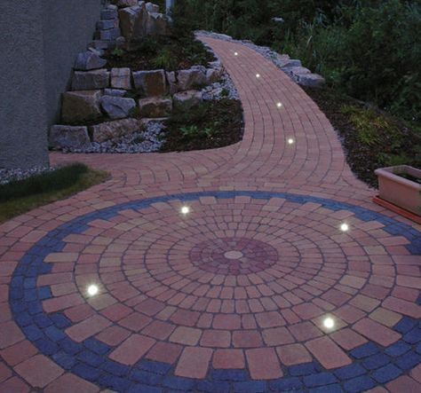 Concrete Paver Illuminated Pedestrian Led Kronimus Ag Betonsteinwerke Concrete Pavers Paver Patio
