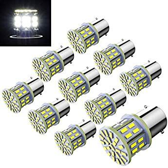 Efoxcity 12v 1156 10 Pack Bright 1156 1141 1003 50 Smd White Led Bulbs For Car Interior Rv Camper Light Camper Lights Led Bulb Bulb