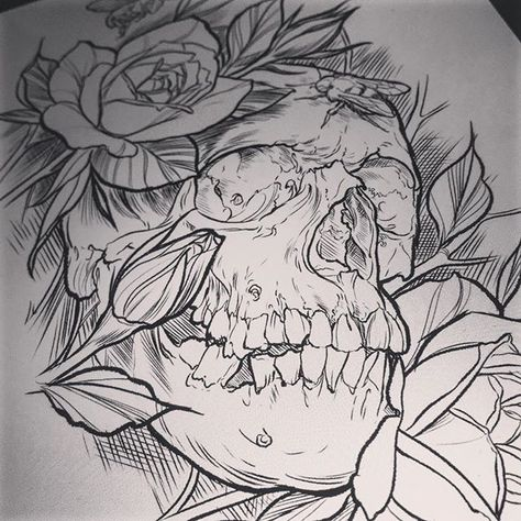 tattoodesign 💀 #drawing #stencil...