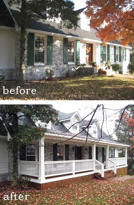 Before And After 7 Sensational Front Porch Additions Front