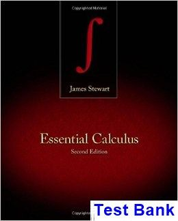 Essential Calculus 2nd Edition James Stewart Test Bank