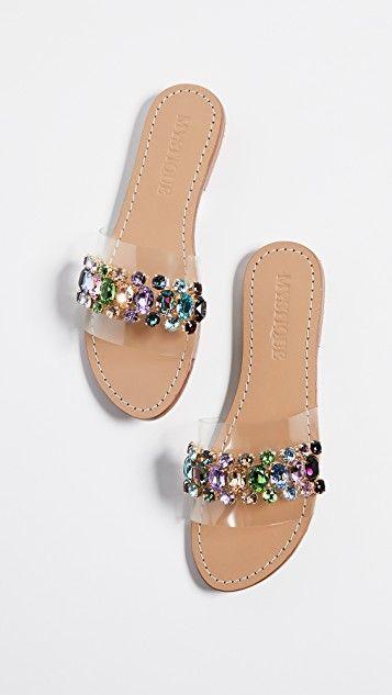 PVC Jewel Slides   Sandalias elegantes